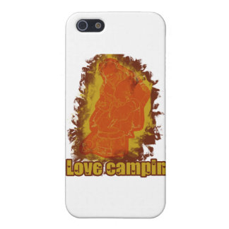 I Love Camping Smoldering Smoke Cases For iPhone 5
