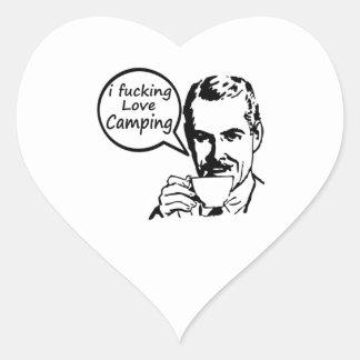 I Love Camping. Heart Sticker