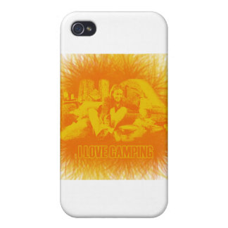 I Love Camping Sunny Days iPhone 4/4S Cover