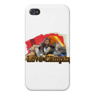 I Love Camping Tent Living iPhone 4 Covers
