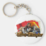 I Love Camping Tent Living Key Chains