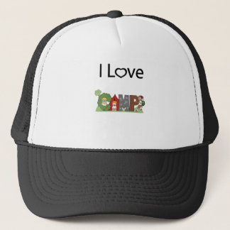 I Love Camping Trucker Hat