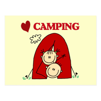 I Love Camping Tshirts and Gifts Postcard