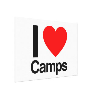 i love camps gallery wrapped canvas