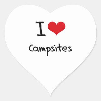 I love Campsites Heart Stickers