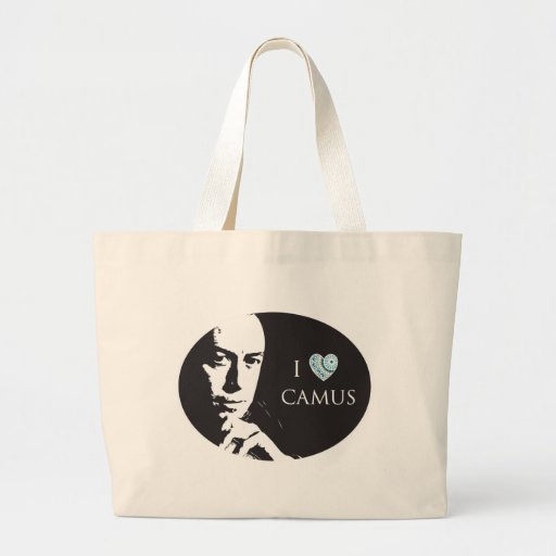 I Love Camus Tote Bag