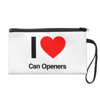 i love can openers wristlet clutch
