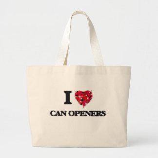 I love Can Openers Jumbo Tote Bag