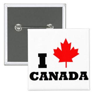 I Love Canada 2 Inch Square Button