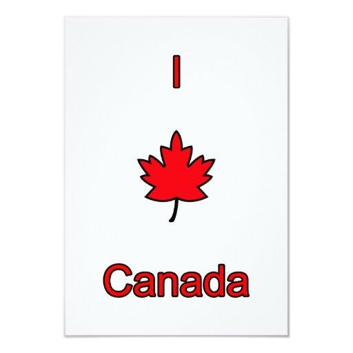 I Love Canada 3.5x5 Paper Invitation Card