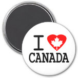 I Love Canada 3 Inch Round Magnet