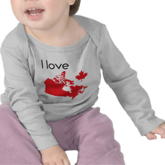 I love Canada baby cloth Tee Shirts