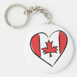 I Love Canada Basic Round Button Keychain