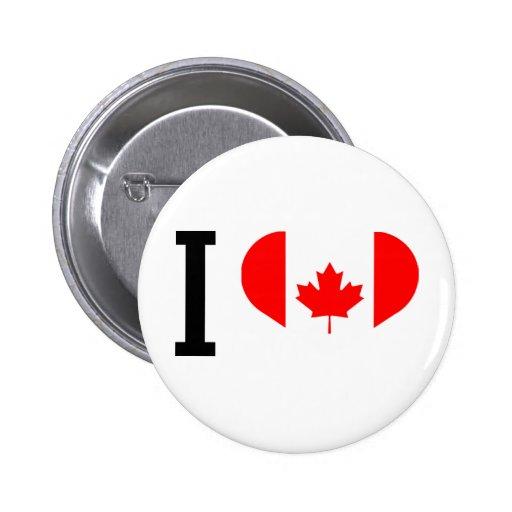 I love Canada Botones