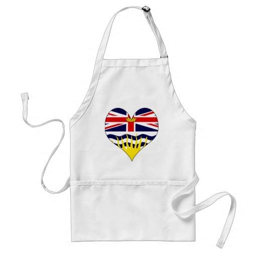 I Love Canada British Columbia Apron