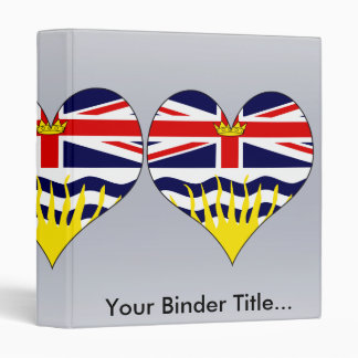 I Love Canada British Columbia 3 Ring Binders