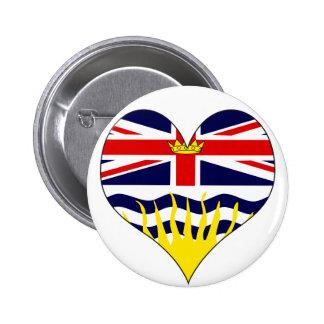 I Love Canada British Columbia Pinback Button