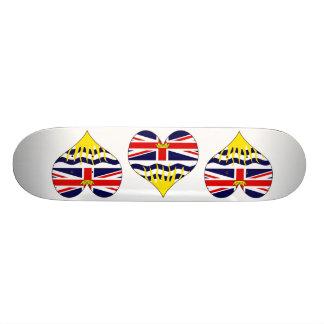 I Love Canada British Columbia Skate Board