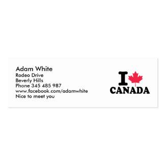 I love Canada Business Card Template