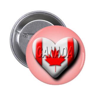 I Love Canada Pinback Button