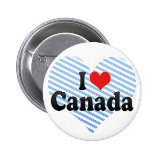 I Love Canada Pins