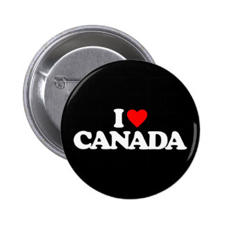 I LOVE CANADA PINBACK BUTTONS