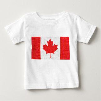 I love Canada! Canadian Flag Stitch Look Design Baby T-Shirt