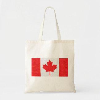 I love Canada! Canadian Flag Stitch Look Design Canvas Bag