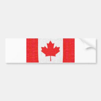 I love Canada! Canadian Flag Stitch Look Design Bumper Sticker