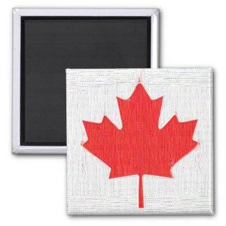 I love Canada Canadian Flag Stitch Look Design Refrigerator Magnets