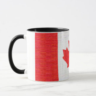 I love Canada! Canadian Flag Stitch Look Design Mug