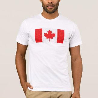 I love Canada! Canadian Flag Stitch Look Design T-Shirt