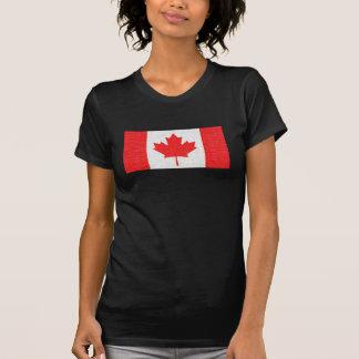 I love Canada! Canadian Flag Stitch Look Design Tshirts