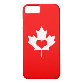 I Love Canada - Canadian Maple Leaf iPhone 8/7 Case