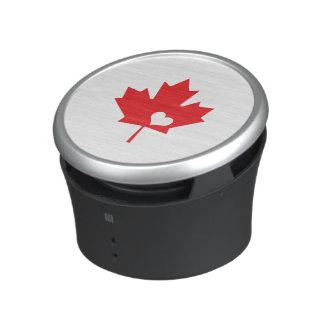 I Love Canada - Canadian Pride Maple Leaf Heart Speaker