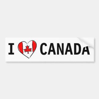 I Love Canada Car Bumper Sticker