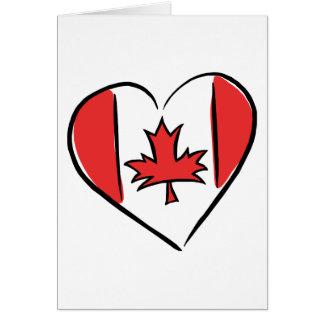 I Love Canada Card