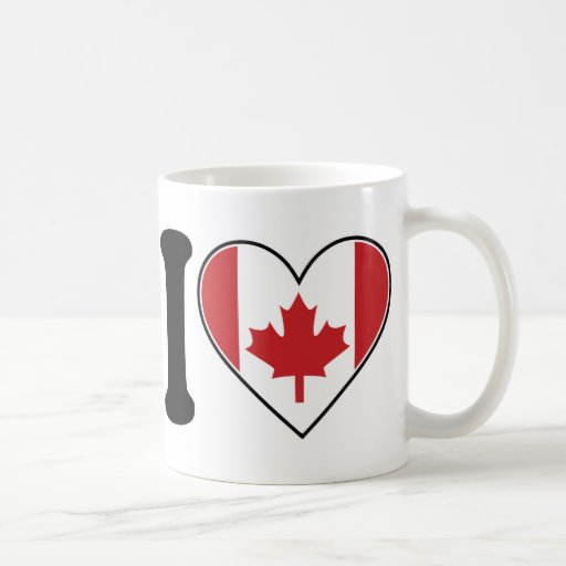 I Love Canada Classic White Coffee Mug