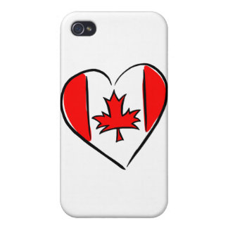 I Love Canada Cover For iPhone 4