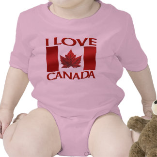I Love Canada Creeper Baby Canada One-Piece Shirt