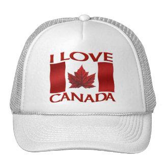 I Love Canada Flag Trucker Hat Canada Souvenir Cap