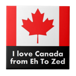 I love Canada from Eh to Zed Ceramic Tile
