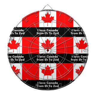 I love Canada from Eh to Zed Dartboard With Darts
