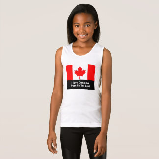 I Love Canada from Eh to Zed - Fun Tank Top