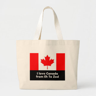 I love Canada from Eh to Zed Large Tote Bag
