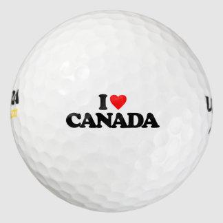 I LOVE CANADA GOLF BALLS