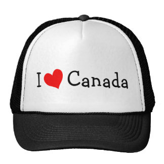 I Love Canada Hat