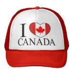 I Love Canada Hats
