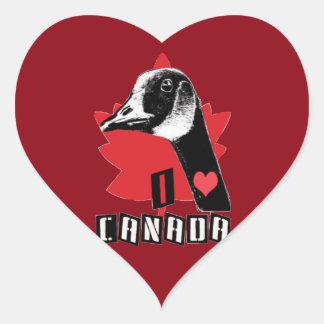 I Love Canada Heart Sticker