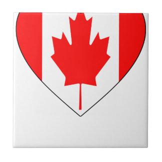 I Love Canada - Heart Vintage Flag T-Shirts Ceramic Tile